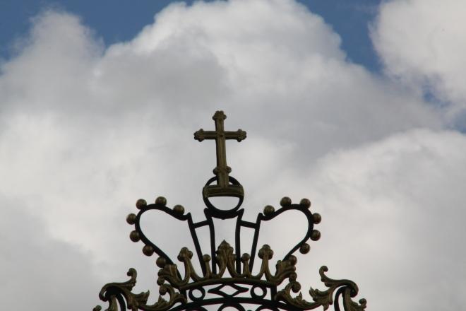 cross crown sky clouds metaphor for Soul Ascend