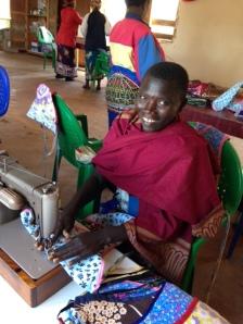 malawi widow sewing