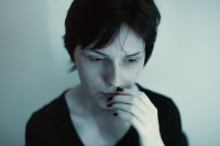 woman anxious caused by advertising created fears