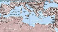map of mediterranean