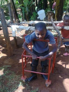 Kenya child in walker