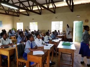 Kenya girls classroom