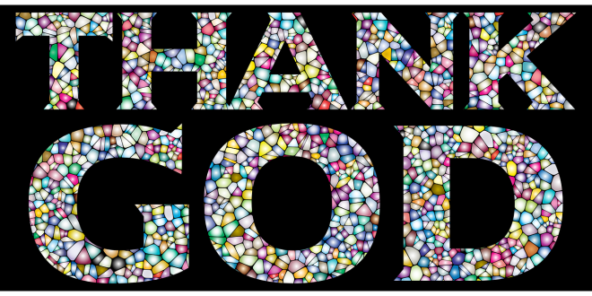 "the words ""thank God"""