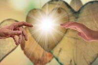 Michelangelo Gods hand human hand heart