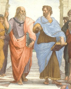 Aristotle and Plato painting