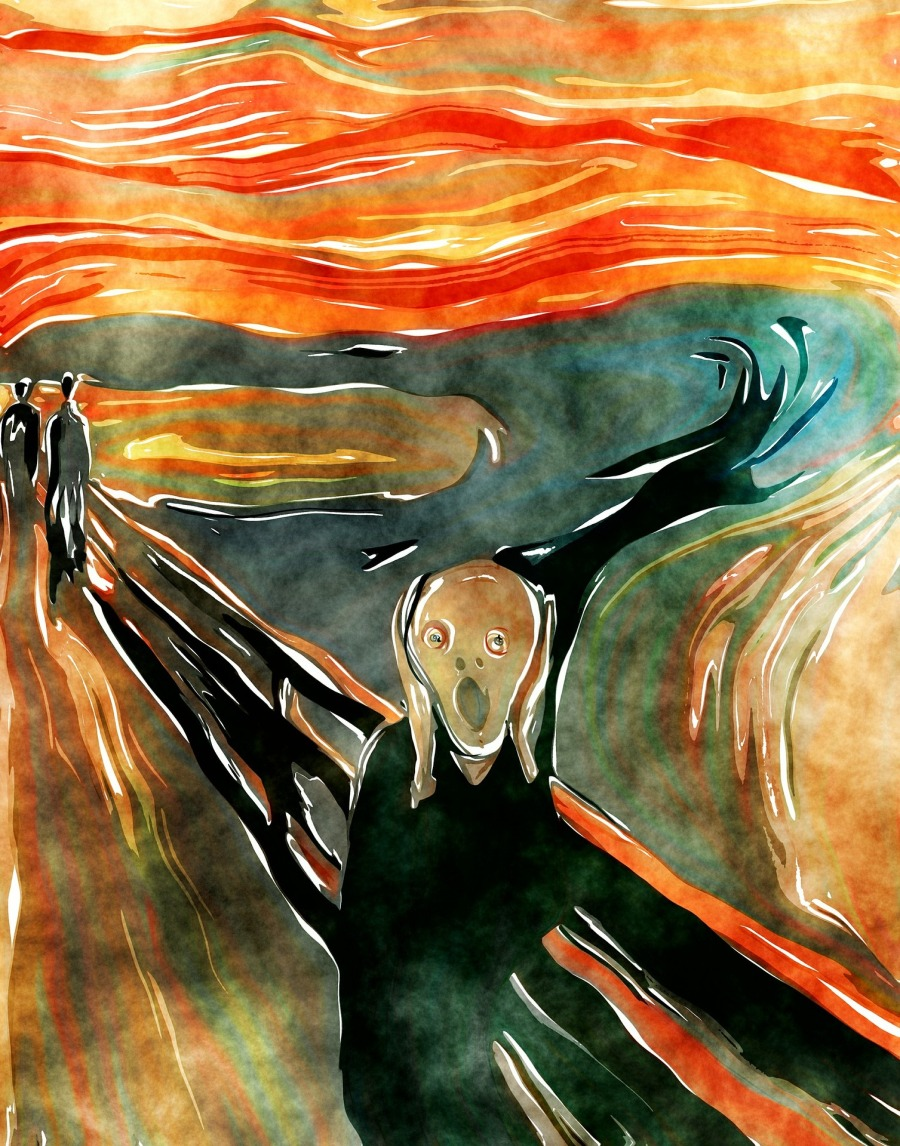 Munch watercolor