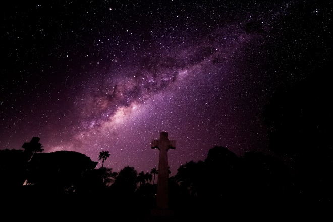 night sky milky way cross