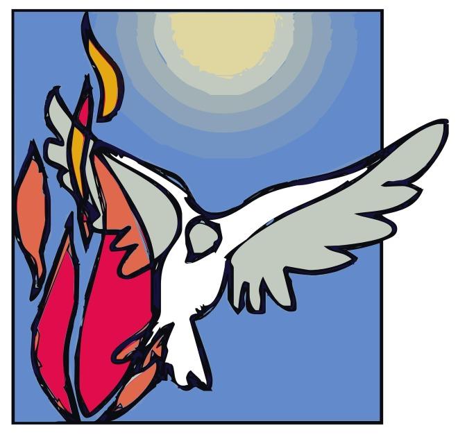 dove & flame holy spirit